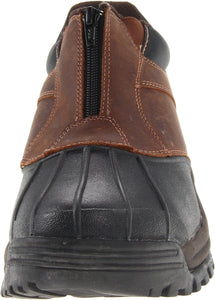 Propet Men's Blizzard Ankle Zip Boot,Brown/Black