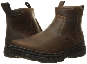 Skechers USA Men's Resment Korver Chukka Boot,Dark Brown, US