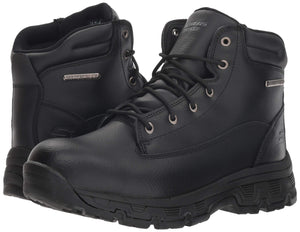Skechers Men's Morson-SINATRO Hiking Boot, Black, US