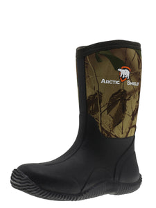 ArcticShield Youth Waterproof Durable Rubber Neoprene Outdoor Snow Boots (Camouflage)