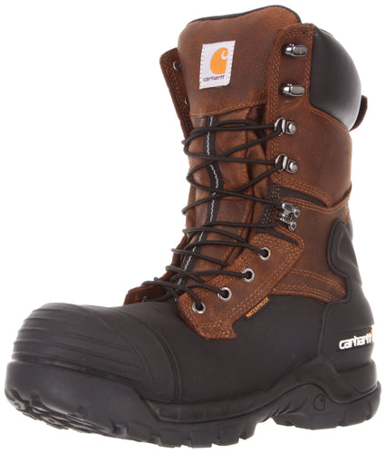 Carhartt Men's Waterproof Insulated PAC Composite Toe Boot CMC1259,Brown Oiltan/Black Coated, US