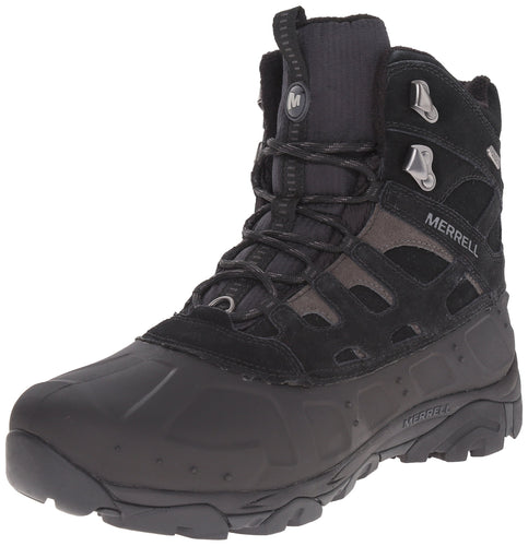 Merrell Men's Moab Polar Waterproof Winter Boot,Black, US