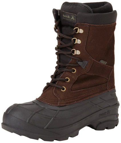 Kamik Men's Nationplus Snow Boot,Dark Brown,US