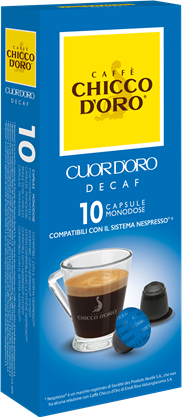 "100 Capsules Chicco D'Oro ""Decaf"" Compatible with Nespresso ® System*"