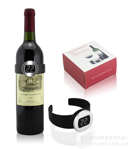 1PC Automaticel Electronic LCD Red Wine Bottle Thermometer Digital Wine Watch Temperature Meter Bottle Thermometer LJ 013