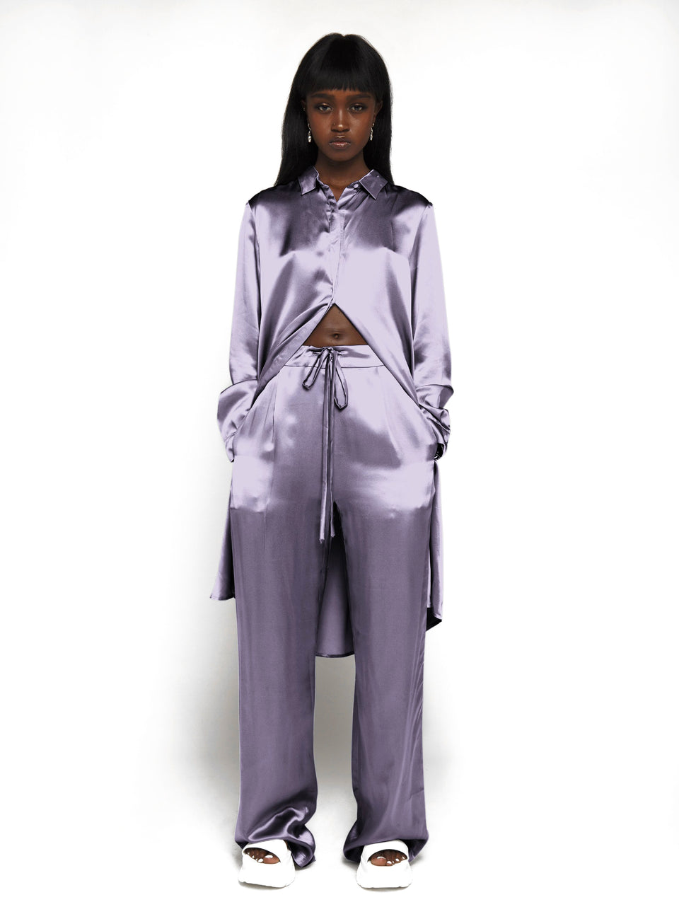 DS Purple Silk Trousers