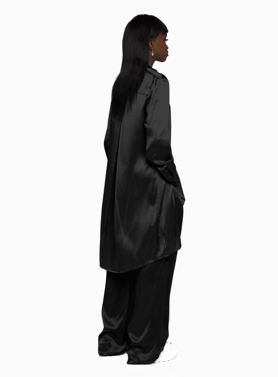 DS Black Silk Trousers