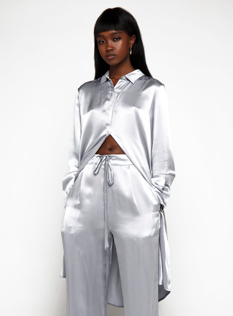 DS Metallic Silk Trousers