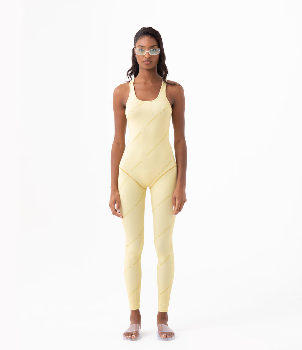 DS Chiffon Yellow Jumpsuit