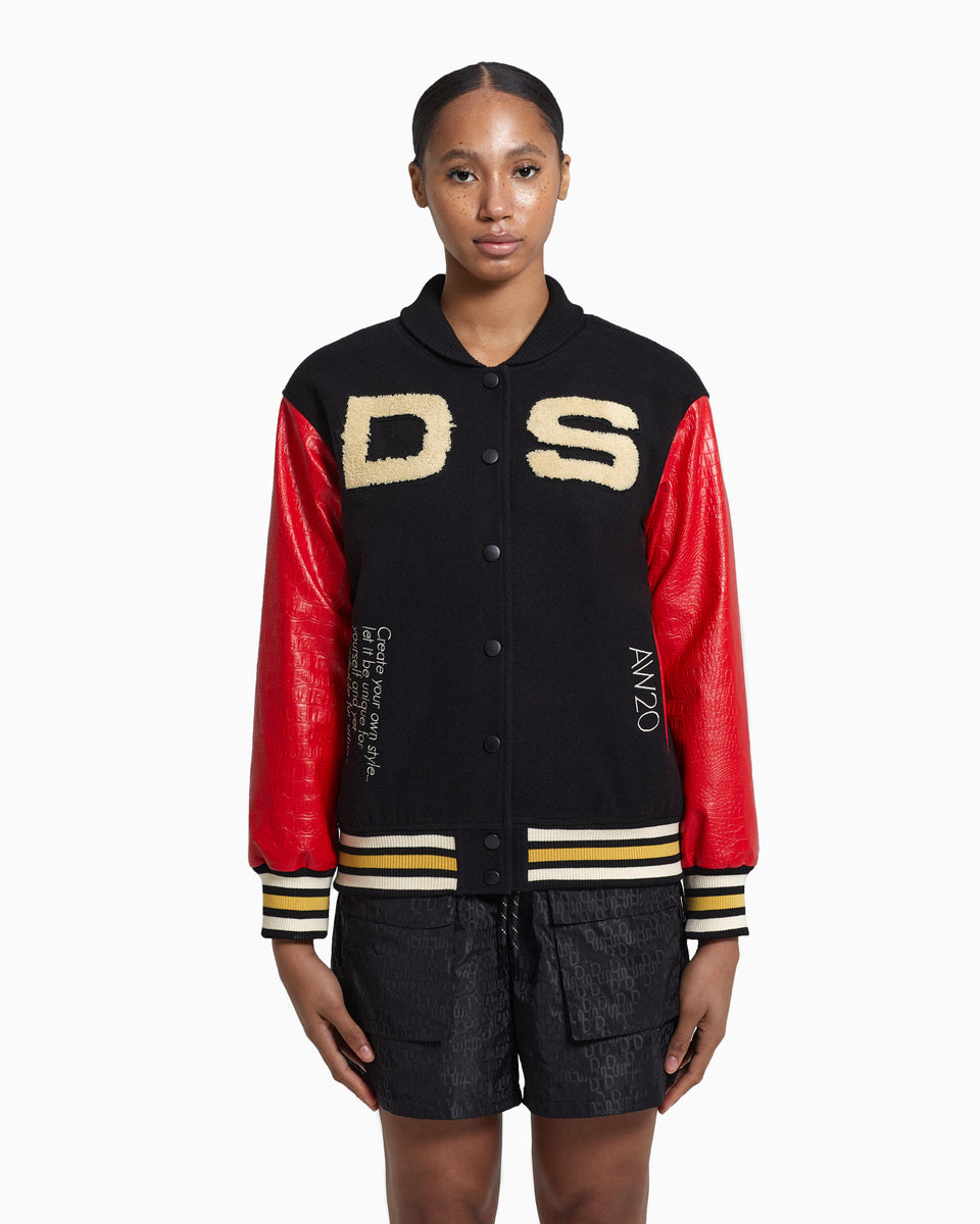 DS Patched Bomber Baseball Jacket