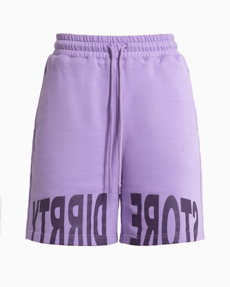 DS Purple Logo Print Shorts