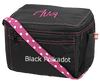 black polka dot lunch box