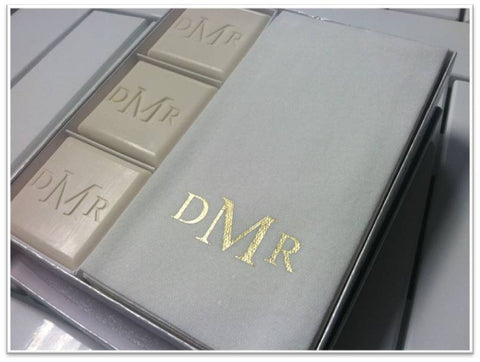3-monogrammed-soaps-disposable-towel