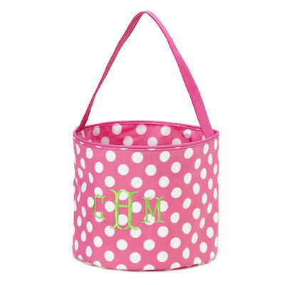 pink polka dot easter basket