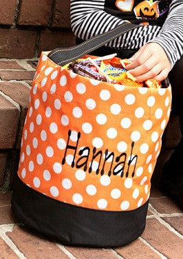 polka dot trick or treat bag