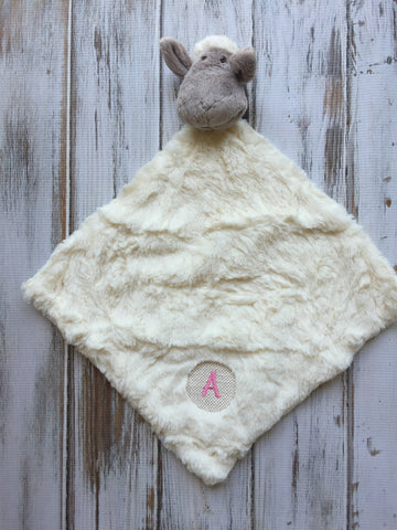 lamb head lovey blanket