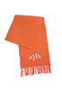 monogrammed orange soft scarf