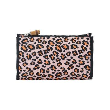 TRVL Design Pink Cheetah Print Make Up Bag
