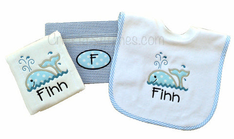 Bib, Burp Cloth & Bag Package