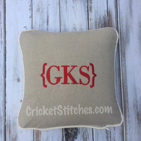 Initials Throw Pillow