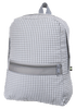 gray gingham backpack