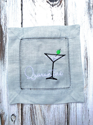 Quarantini cocktail napkins