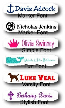 Personalized Iron On Clothing Labels