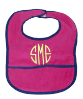 personalized corduroy bib by mint