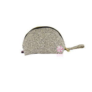 cheetah print taco shaped cosmetic bag