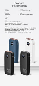 KUULAA Power Bank 30000mAh USB Type C PD Fast Charging + Quick Charge 3.0 PowerBank 30000 mAh External Battery For Xiaomi iPhone