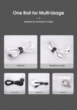 Load image into Gallery viewer, KUULAA Cable Organizer Free Length USB Cable Wire Winder for phone Earphone Holder Mouse cord protector 1m/3m/5m Cable Managemet