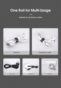 KUULAA Cable Organizer Free Length USB Cable Wire Winder for phone Earphone Holder Mouse cord protector 1m/3m/5m Cable Managemet