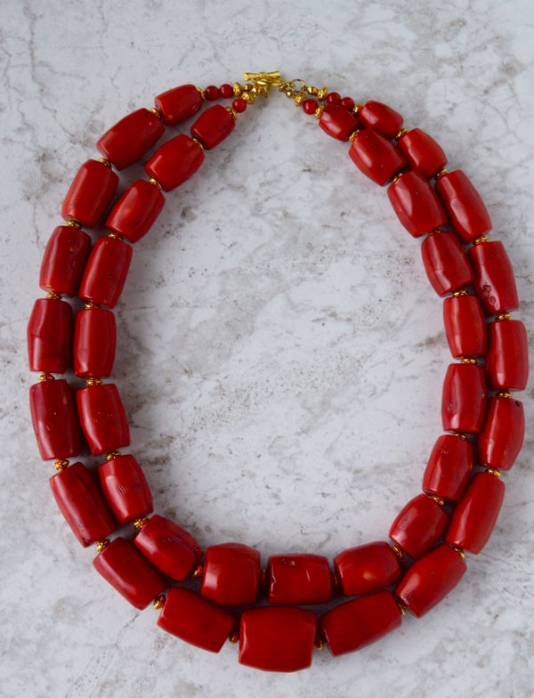 Moji Two Tier Coral Necklace