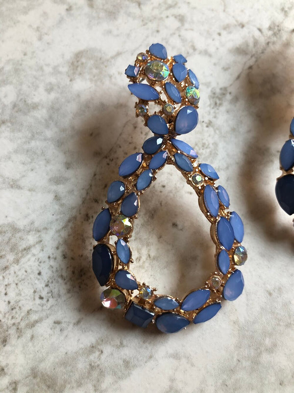 Blue Abby Drop Earrings