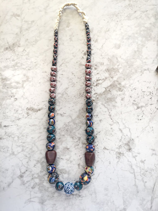 Tayo Multi-print Glass Necklace