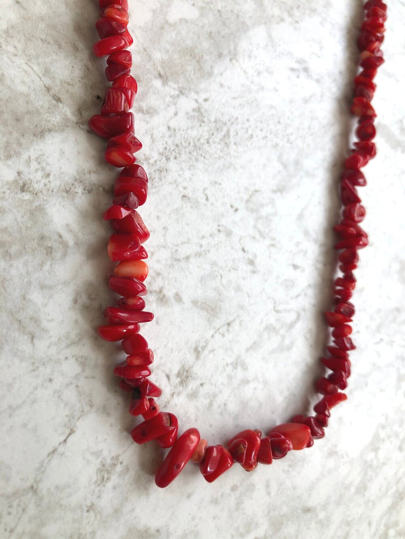 Infiniti Red Coral Stacking Necklace