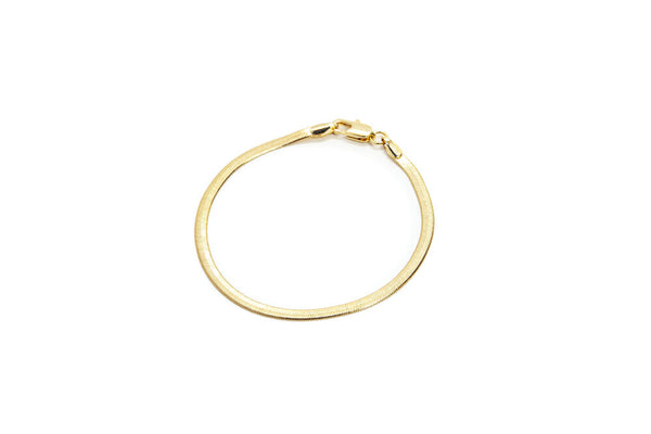 18K Gold Filled Herringbone Bracelet