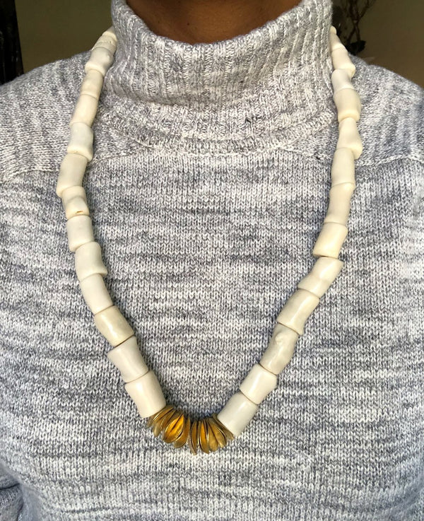 Tinu Ivory Coral Disc Necklace