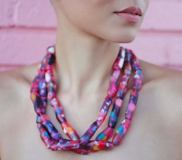 Pink Sisu Recycled Necklace