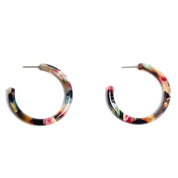 Multicolor Madina Hoops
