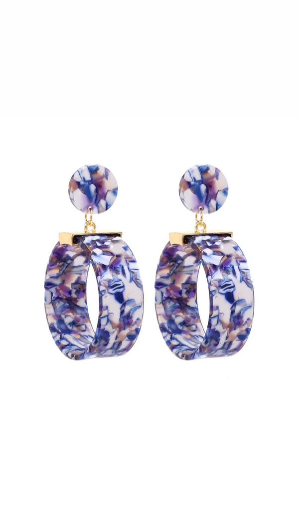 Blue Globe Earrings