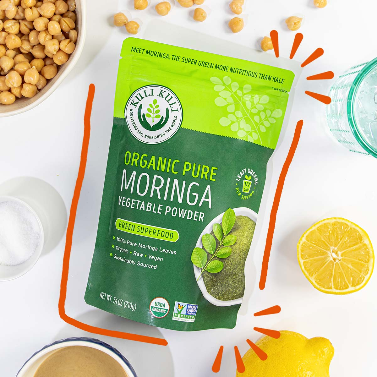 Organic Pure Moringa Powder