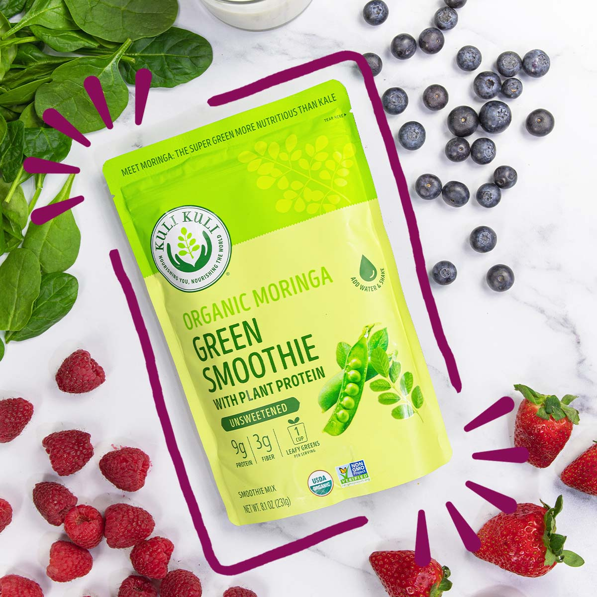 Organic Moringa Superfood Shakes