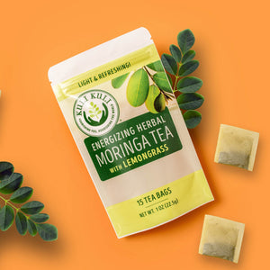 Energizing Moringa Herbal Tea - Lemongrass