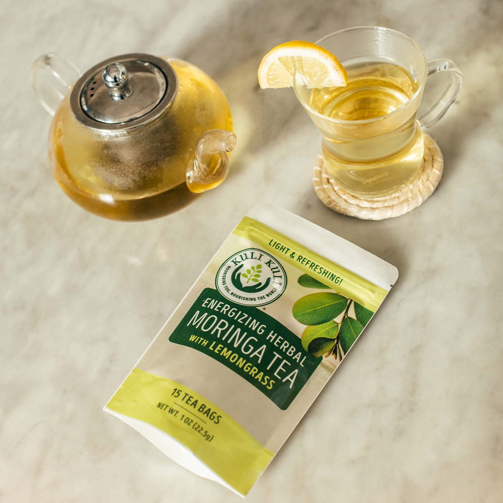Load image into Gallery viewer, Energizing Moringa Herbal Tea - Lemongrass