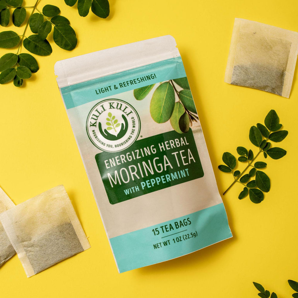 Load image into Gallery viewer, Energizing Moringa Herbal Tea - Peppermint