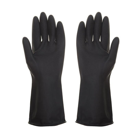Heavy Duty Industrial Black Rubber Latex Gloves - Blitz Detailing