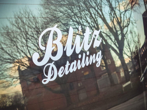 NEW Blitz Detailing Vinyl Car Sticker (Transfer) - Blitz Detailing