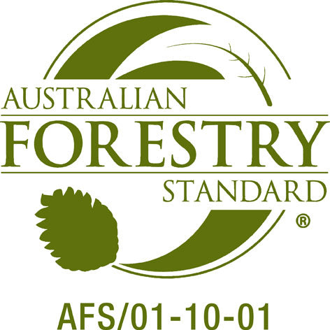 Logo for Australian Forestry Standard.