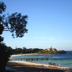Photo of Bathurst point at Rottnest Island.